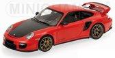 Porsche 911 GT2 RS 2011 1:18 Minichamps Rood 100 069408