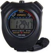 Stopwatch - Grote Display - Zwart (bulk verpakking)