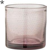 Bloomingville - Waxinelichthouder - Glas - 10xH10 cm - Roze