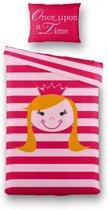 Kinderdekbedovertrek Prinsesje - Eenpersoons - 140x200 cm - Roze