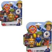 Brandweerman Sam poppetjes, Penny, Elvis, Sam en Arnold, 2-er pack
