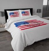 Sleeptime Made in America Dekbedovertrekset - Lits-jumeaux - 240 x 220 cm - Wit