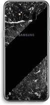 Samsung Galaxy S8 Transparant Hoesje (Soft) - Zwart marmer