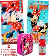 Minnie Mouse strandlaken kinderen 70x140   set 2 stuks + rugzak   Disney badhanddoeken   BS09