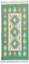 Kaira Vloerkleed - 60x125 - Groen - by Okashi Heritage