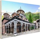 Rila klooster Bulgarije Hout 80x60 cm - Foto print op Hout (Wanddecoratie)