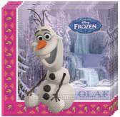 """Frozen Servetten Anna, Elsa en Olaf - 20 stuks"""