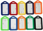 5x Multicolor bagagelabels | Bagage markering | luggage tag