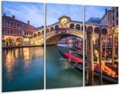 Glasschilderij Venetië | Blauw, Groen, Bruin | 120x80cm 3Luik | Foto print op Glas |  F006032