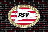 PSV vlag Eindhoven all over