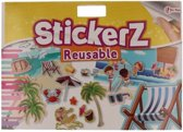 Autoraam stickers boek strand thema
