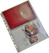 EXXO-HFP #35761 - A4 Ringband Documententas - 12mm cap. - TWIN A5 tassen - Kleurloos - 2 Pakken @ 5 stuks