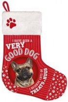 Kerst stockingFrench Bulldog met 5x beefsticks