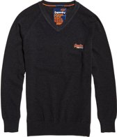 Superdry Orange Label Crew Sweater  Sporttrui casual - Maat M  - Mannen - grijs
