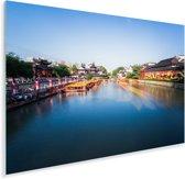 Nanjing aan de oevers van de Qinhuai-rivier in China Plexiglas 180x120 cm - Foto print op Glas (Plexiglas wanddecoratie) XXL / Groot formaat!