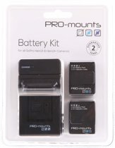 PRO-Mount Battery Kit incl. 2x accu voor GoPro Hero3+