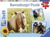 Ravensburger Schattige ponys- Drie puzzels van 49 stukjes - kinderpuzzel