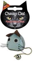 Crazy Cat Funny Mouse licht blauw vol met Catnip