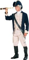 Kapitein & Matroos & Zeeman Kostuum | Kapitein Der 7 Zeeen Admiraal Kostuum Man | Small | Carnaval kostuum | Verkleedkleding