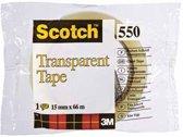 Scotch® Transparante Tape, Individueel Flowpack + Toren, 15 mm x 66 m, 10 Rollen/Pak