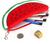 Pennenmap Watermeloen - Zachte stof - Groot formaat