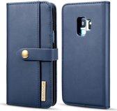 Samsung Galaxy S9 Leren 2-in-1 Bookcase en Back Cover Hoesje Blauw