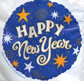 folieballon - happy new year - leeg