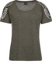 Protest LEILA T-Shirt Dames - True Olive - Maat S/36