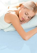 Schlafgut Hoeslaken Frottee Stretch (badstof) 052-aqua 90/190x100/200