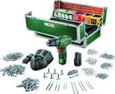 Bosch PSB 10,8 LI-2 Accu klopboormachine - 10,8 V - Met 2 accu's, lader en 508-delige toolbox