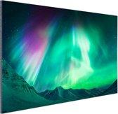 Noorderlicht in Alaska Aluminium 90x60 cm - Foto print op Aluminium (metaal wanddecoratie)