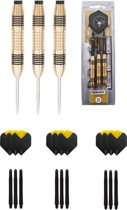 Unicorn Core Brass 21 gram dartpijlen met extra 9 extra - dartshaft - en 9 extra - dartflights