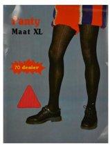 Pietpanty rib rood (70 denier, mt XL)