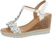 Dames sandalen wit met strass maat 40