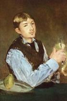 A Young Man Peeling a Pear Portrait of Leon Leenhoff by Edouard Manet - 1868