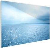Zonlicht weerspiegelt op de zee Glas 30x20 cm - klein - Foto print op Glas (Plexiglas wanddecoratie)