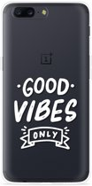OnePlus 5 Hoesje Good Vibes wit