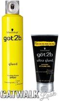 Schwarzkopf got2b Freeze Spray & Ultra Glued Invincible Styling Gel 2 Pack