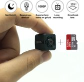 MINI SPY CAMERA, ACTION CAM, VERBORGEN CAMERA. FULL HD 1080P | PLUG AND PLAY | MET 32 GB GEHEUGENKAART