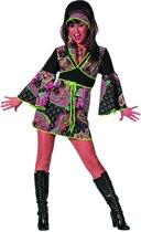 Hippie jurkje zwart/pink Maat 40