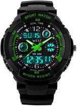 West Watch – multifunctioneel kinder sport horloge - model Storm – groen