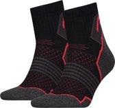 Unisex 2-Pack Hiking Quarter Sokken Zwart