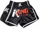 King Pro Boxing KPB/BT 2 Kick/ Thai Trunk- Black-XL