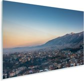 Het Turkse Bursa bij zonsopkomst Plexiglas 90x60 cm - Foto print op Glas (Plexiglas wanddecoratie)