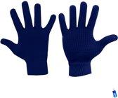 Handschoenen gebreid anti-slip grip sport blauw senior maat l/xl