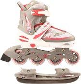 Nijdam Junior Skate/Schaats Combo - Semi-Softboot - Wit - Maat 35-38