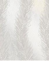 Essence Leaf Wave wit/zilver behang (vliesbehang, grijs)
