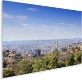 Zicht over de Braziliaanse stad Belo Horizonte in Zuid-Amerika Plexiglas 180x120 cm - Foto print op Glas (Plexiglas wanddecoratie) XXL / Groot formaat!