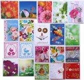 Verjaardagskaarten en Assortie Wenskaarten – Set van 20