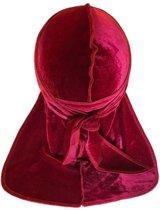 Rode Velvet Du-Rag-Premium kwaliteit - Wave Cap-Durag